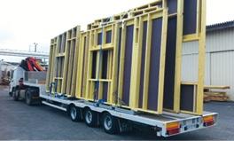 Livraison et grutage de bois et matériaux