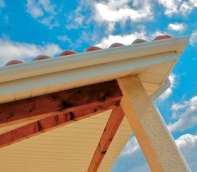 Planche de rive pvc habillage passement de toit bois de construction - Planche de rive pvc ...